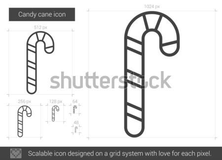 Candy cane line icon. Stock photo © RAStudio