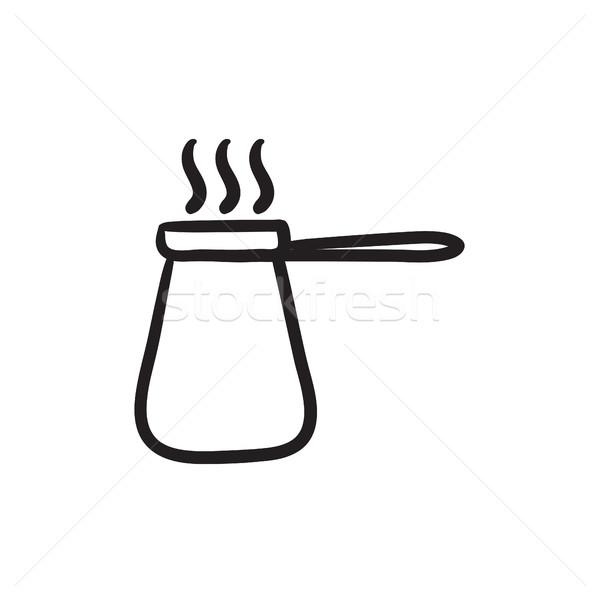 Coffee turk sketch icon. Stock photo © RAStudio
