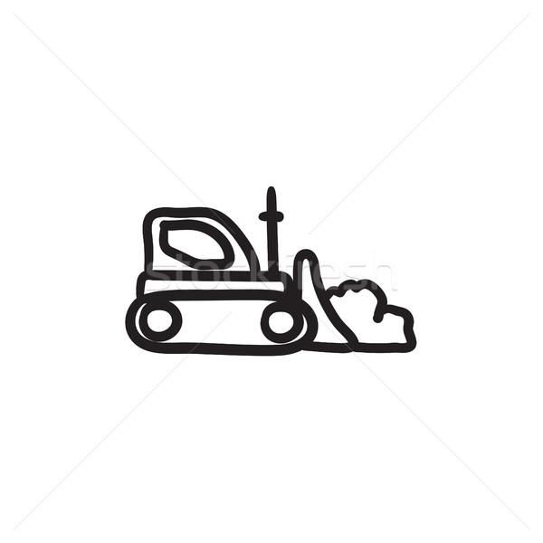 Excavadora boceto icono vector aislado dibujado a mano Foto stock © RAStudio