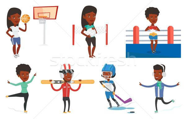 Vector set of sport characters. Stock photo © RAStudio