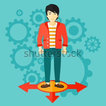 Man choosing career way vector illustration. Stock photo © RAStudio
