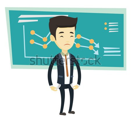 Bankrupt business man vector illustration. Stock photo © RAStudio