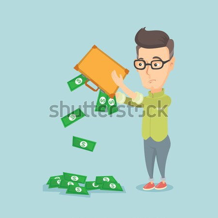 Fuera dinero maletín deprimido Asia Foto stock © RAStudio