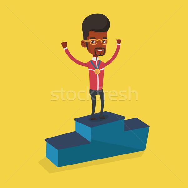 спортсмен подиум молодые Сток-фото © RAStudio