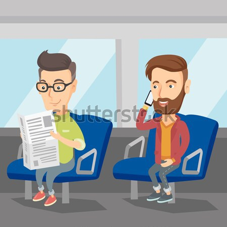 People traveling by public transport. Stock photo © RAStudio