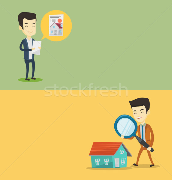 Two real estate banners with space for text. Stock photo © RAStudio