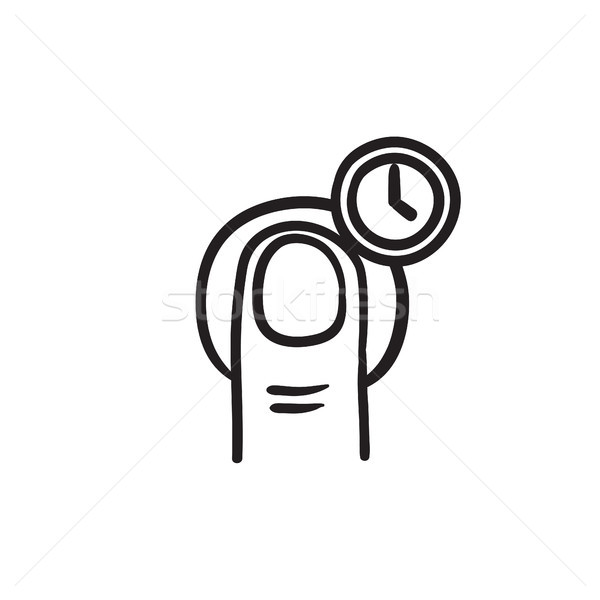 Hold timer gesture sketch icon. Stock photo © RAStudio