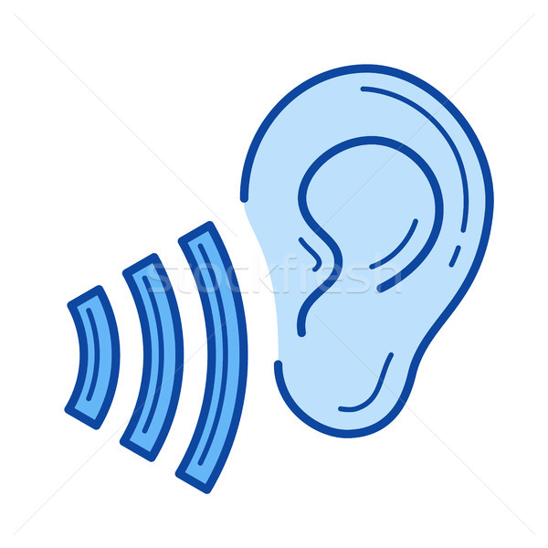 Listen symbol line icon. Stock photo © RAStudio