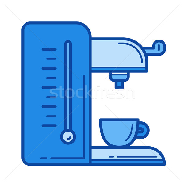 Coffee maker line icon. Stock photo © RAStudio