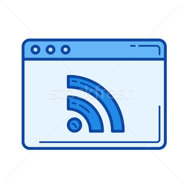 RSS line icon. Stock photo © RAStudio