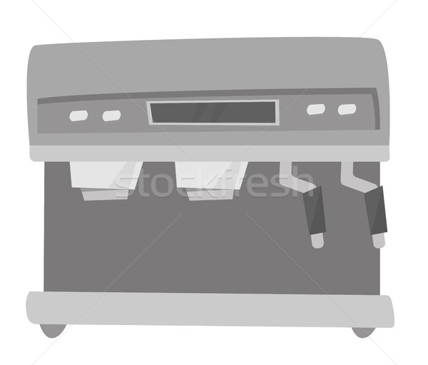 Modern coffee machine vector cartoon illustration. Stock photo © RAStudio
