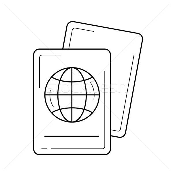 Passport line icon. Stock photo © RAStudio