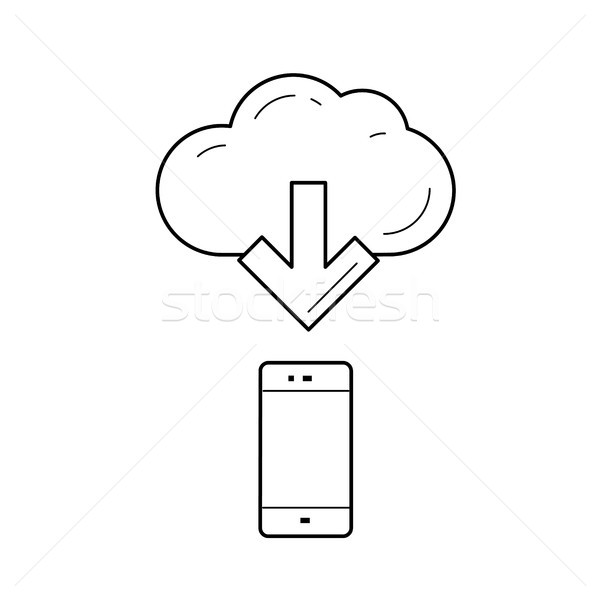 Cloud file access line icon. Stock photo © RAStudio