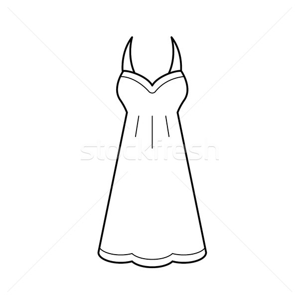 Sundress vector line icon. Stock photo © RAStudio