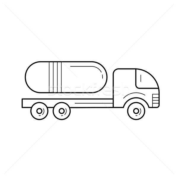 Commerciaux camion vecteur ligne icône isolé Photo stock © RAStudio