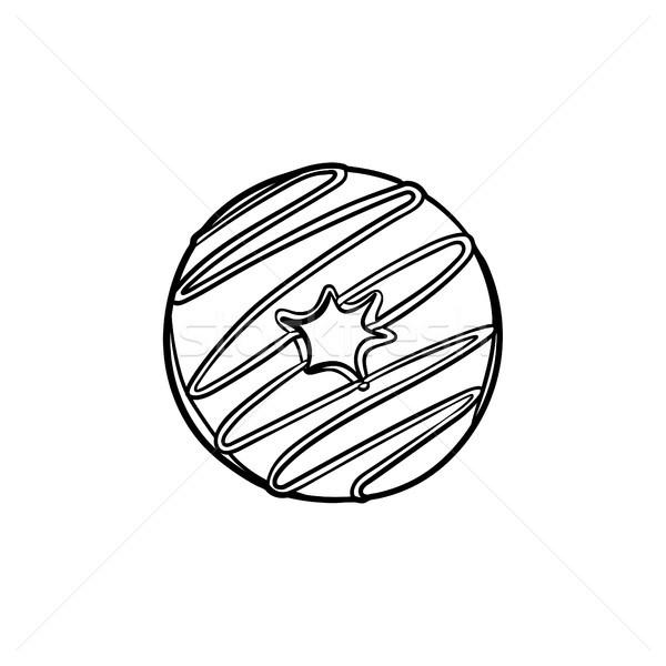 Stockfoto: Donut · schets · icon · schets · doodle