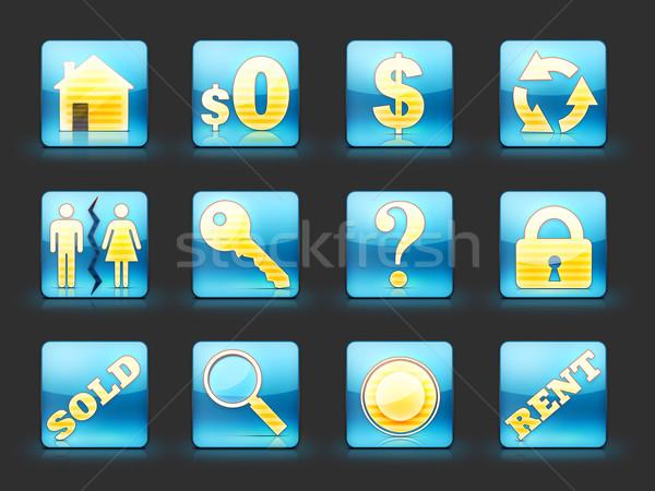 недвижимости бизнеса домой знак веб Сток-фото © RAStudio