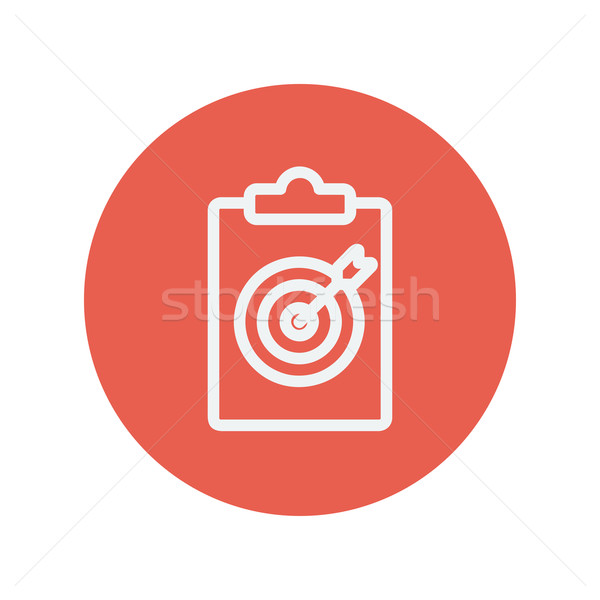 Business and finance traget thin line icon Stock photo © RAStudio