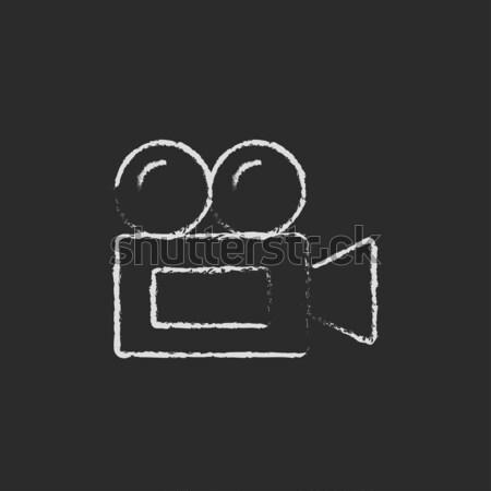 Video camera drawn in chalk Stock photo © RAStudio