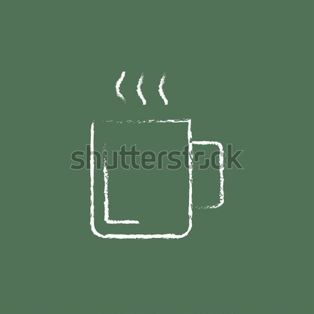 Mug bevanda calda icona gesso Foto d'archivio © RAStudio