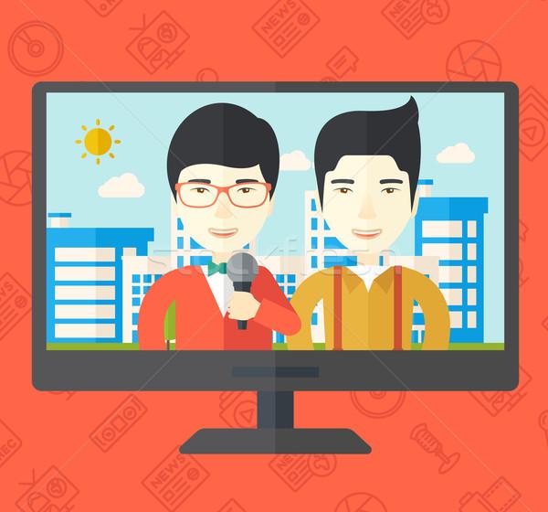 Broadcast interview. Stock photo © RAStudio