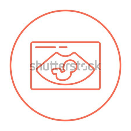 Fetal ultrasound line icon. Stock photo © RAStudio