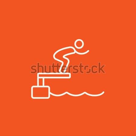 スイマー ジャンプ プール 行 アイコン ウェブ ストックフォト © RAStudio