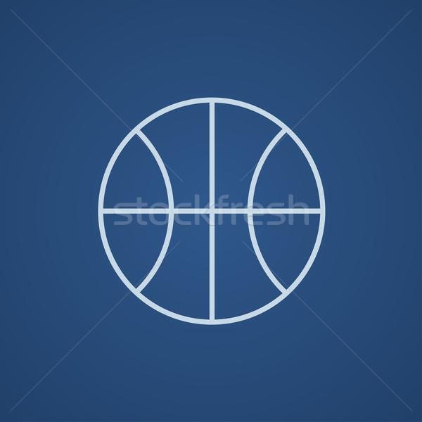 Basketball Ball line Symbol Web mobile Stock foto © RAStudio