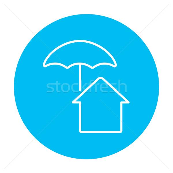 House under umbrella line icon. Stock photo © RAStudio