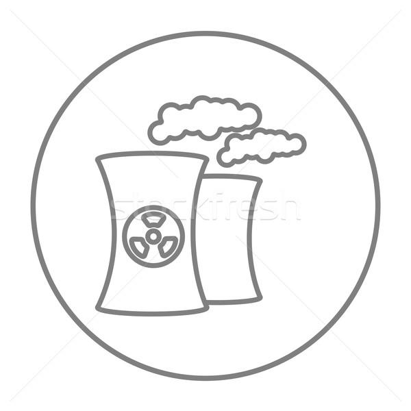 Nuclear power plant line icon. Stock photo © RAStudio
