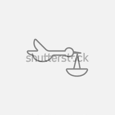 Bebek sepet leylek hat ikon web Stok fotoğraf © RAStudio