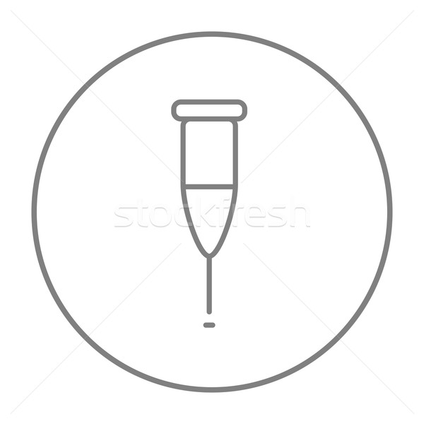 Muleta linha ícone teia móvel infográficos Foto stock © RAStudio