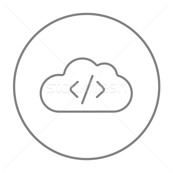 Transferring files cloud apps line icon. Stock photo © RAStudio
