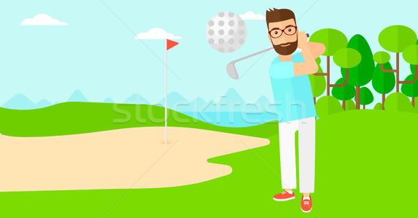 Golf player hitting the ball. Stock photo © RAStudio
