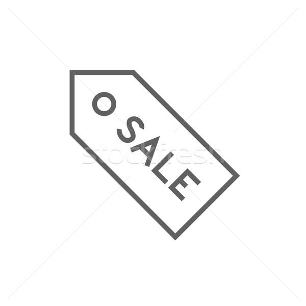 Sale tag line icon. Stock photo © RAStudio