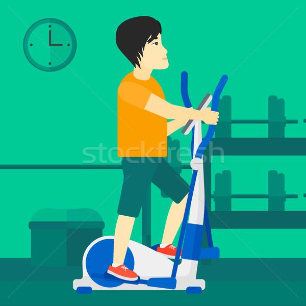 Man asian machine gymnasium Stockfoto © RAStudio