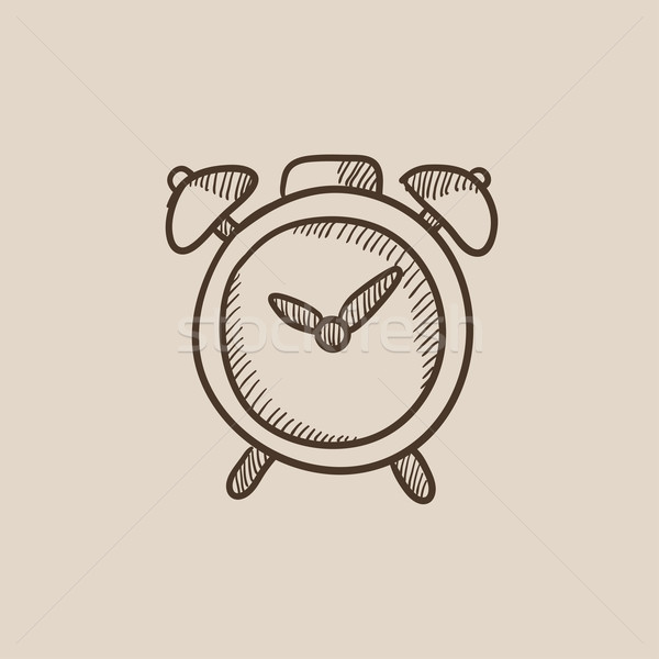 Alarm clock sketch icon. Stock photo © RAStudio