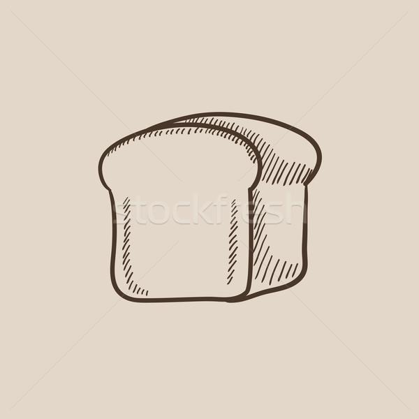 Half of bread sketch icon. Stock photo © RAStudio