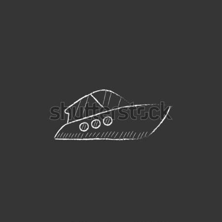 Speedboat sketch icon. Stock photo © RAStudio