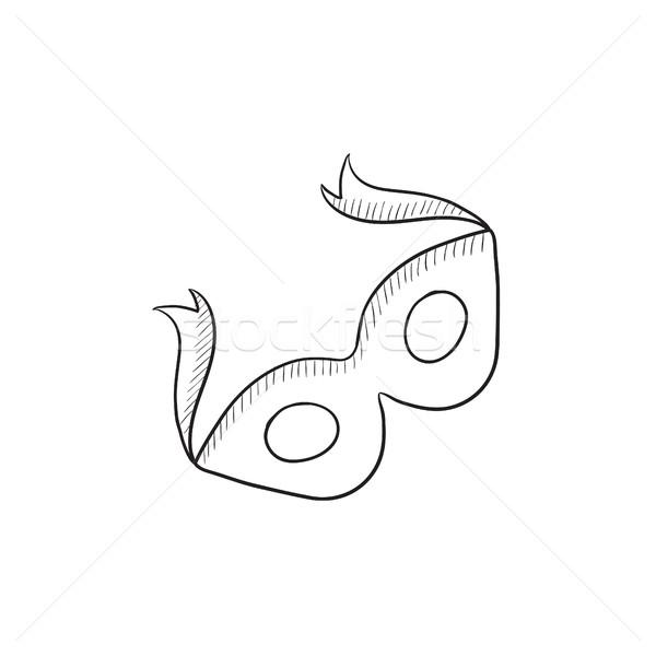 Stock photo: Carnival mask  sketch icon.