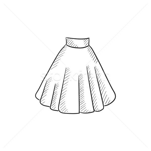Spódnica szkic ikona wektora odizolowany Zdjęcia stock © RAStudio