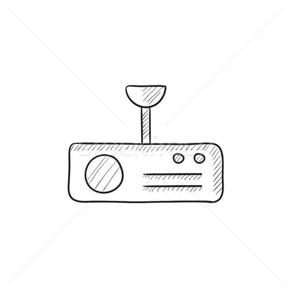 Digitális projektor rajz ikon vektor izolált Stock fotó © RAStudio