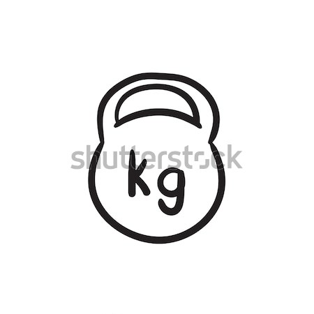 ケトルベル スケッチ アイコン ベクトル 孤立した 手描き ストックフォト © RAStudio