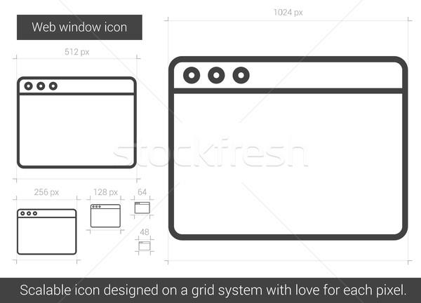 Web window line icon. Stock photo © RAStudio