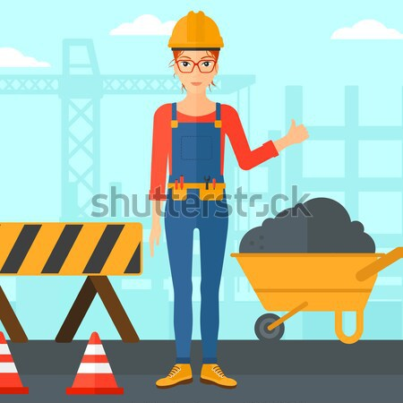 Builder showing thumbs up. Stock photo © RAStudio