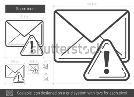 Spam line icon. Stock photo © RAStudio