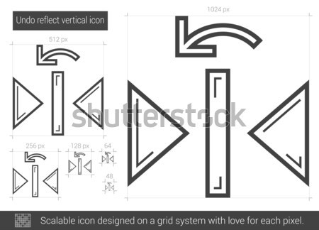 Undo reflect vertical line icon. Stock photo © RAStudio