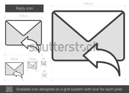 Odpowiedzieć line ikona wektora odizolowany biały Zdjęcia stock © RAStudio