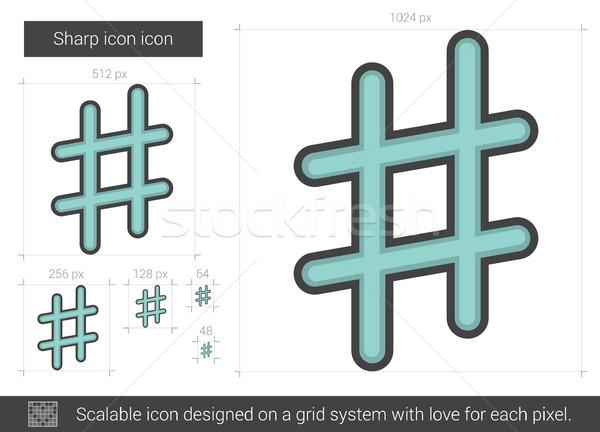 Scherp lijn icon vector geïsoleerd witte Stockfoto © RAStudio