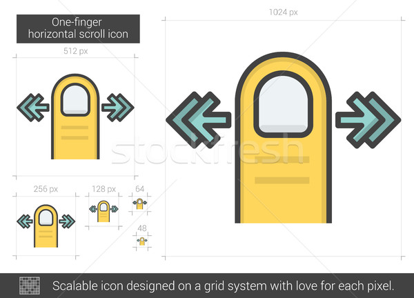 One-finger horizontal scroll line icon. Stock photo © RAStudio